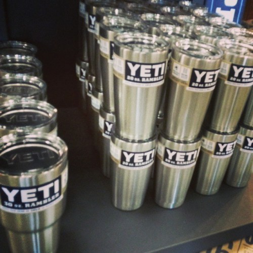 #Yeti ramblers are available at #jessebrowns just in time. Stop by while supplies last.  #ramblers #charlotte