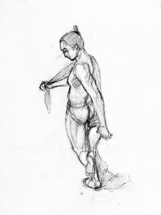 Jesse Claggett | 3D Art Lead » Sketchbook Pencil Drawings: Figure