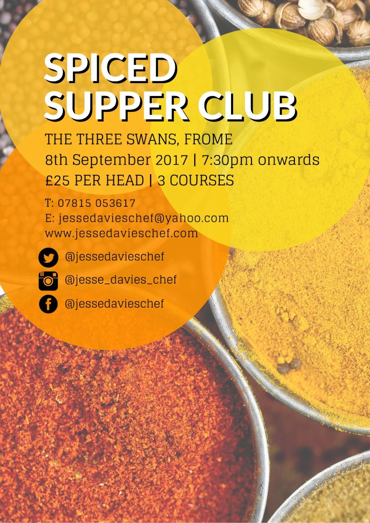 SPICED Supper Club in Frome