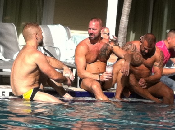 Hot Poolside Muscle Bears