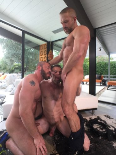 Dirk Caber, Hunter Marx, and Max Sargent 3-way!