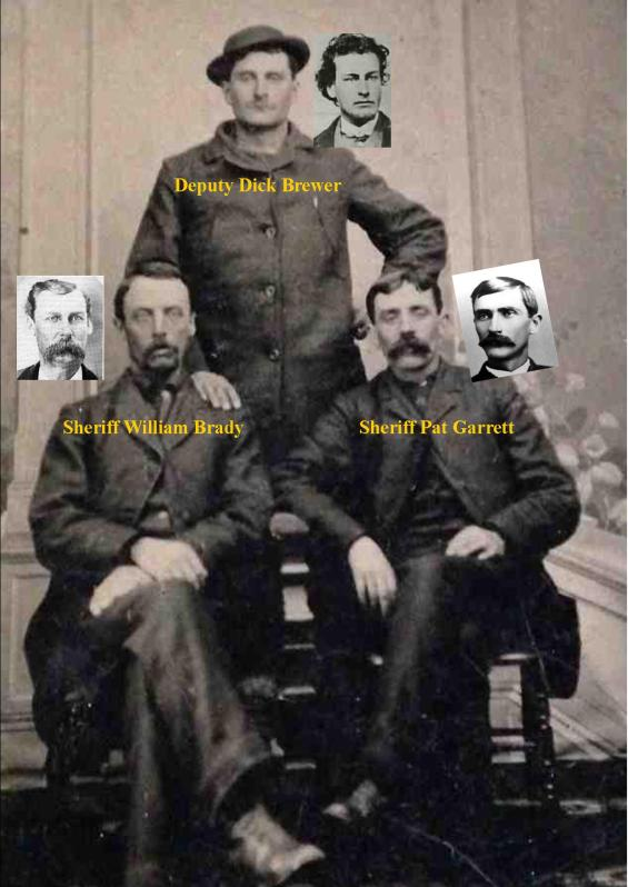 Sheriff Brady (left) Sheriff Garrett (right) Deputy Brewer (rear) / RJ Pastore Collection