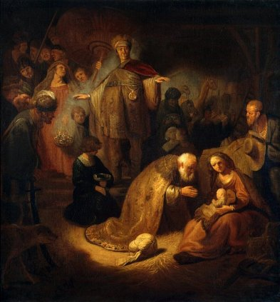 Rembrandt - Adoration of the Magi (Holland, 17th century)