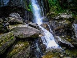 High Shoals Falls - High Shoals Falls Loop Trail - South Mountains State Park, NC