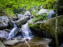 Waterfalls - High Shoals Falls Loop Trail - South Mountains State Park, NC