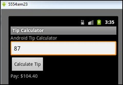 Android Tip Calculator