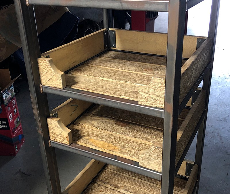 Display Shelving for Metal Rescue
