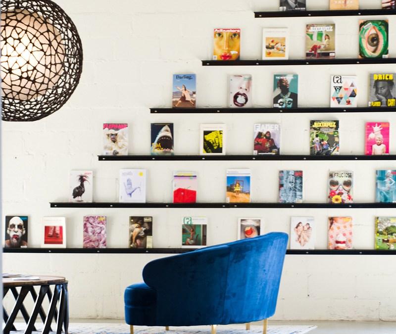 Wall Mounted Magazine Display Shelves