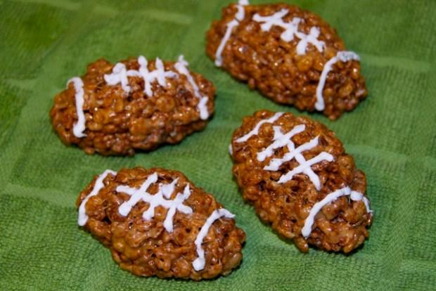 Rice Krispie Footballs