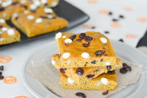Cranberry White Chocolate Pumpkin Bars