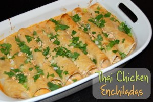 Thai Chicken Enchiladas {and wedding, part two}