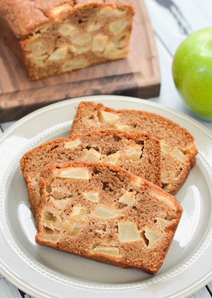 This Apple Cinnamon Quick Bread is packed with soft apples and cinnamon spice. It's perfect as a fall treat or a yummy snack or breakfast any time of year!
