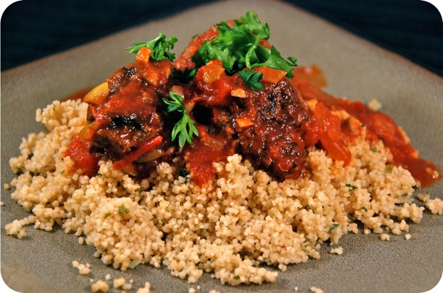 North African Meatballs Over Couscous