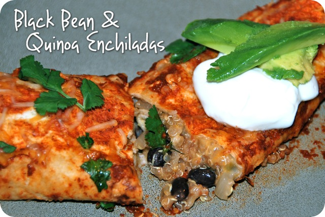 Black Bean and Quinoa Enchiladas