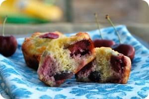 Coconut Flour Cherry Muffins