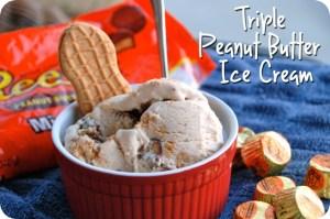 Triple Peanut Butter Ice Cream