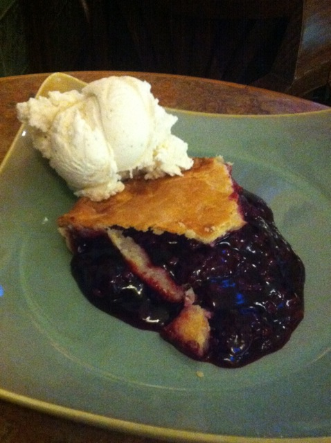Olallieberry Pie at Linn's Restaurant, Cambria, CA