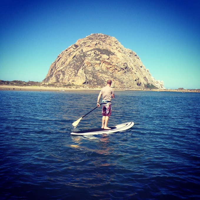 Paddleboarding at Morro Rock, CA