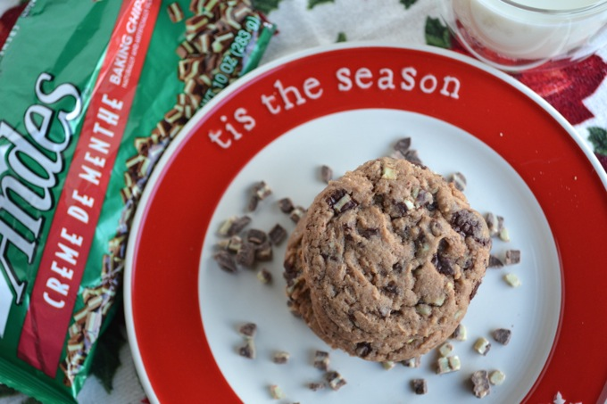 Andes Mint Chocolate Chunk Cookies