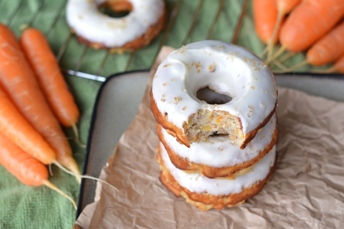 Coconut Flour Carrot Cake Donuts