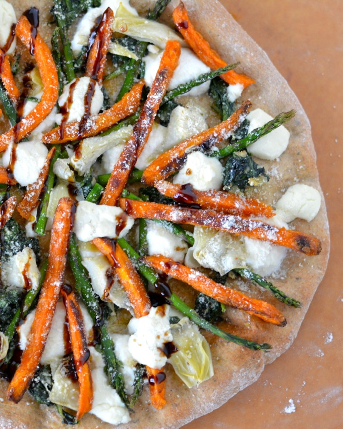 Spring Sweet Potato Flatbread #SpringIntoFlavor