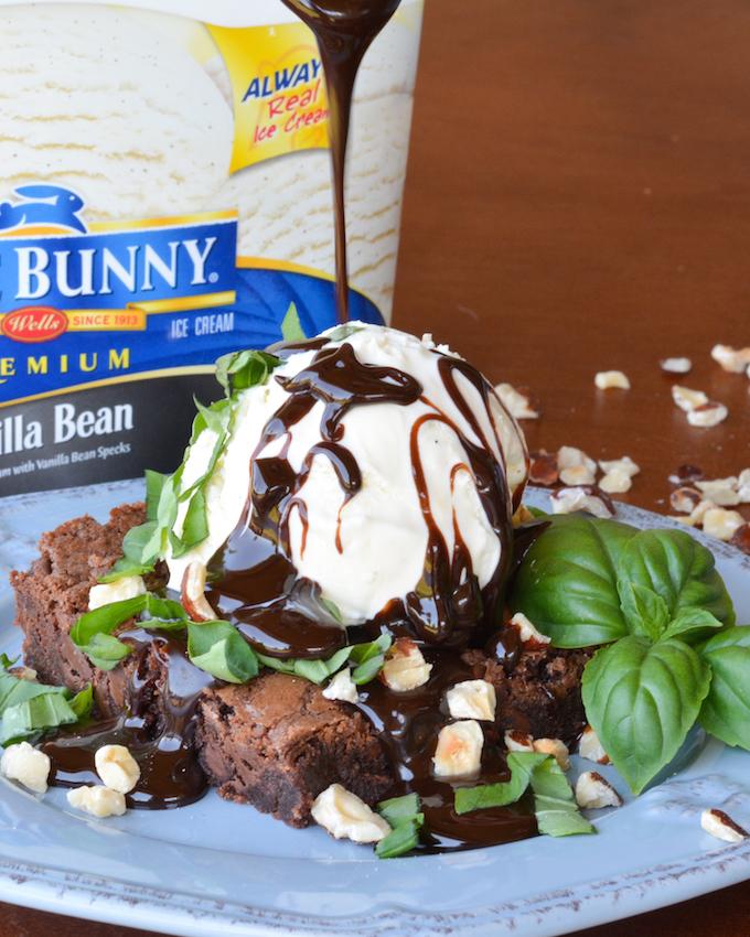 Sweet Basil Brownie Sundaes