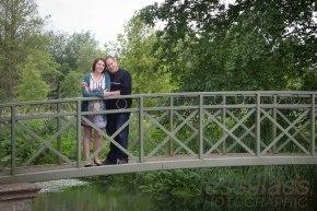 Anne & Martin on the bridge Athelhampton House