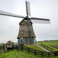 1886 windmill, Laag, North Holland , the Netherlands.