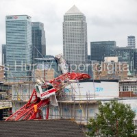 Crane collapse East London one dead