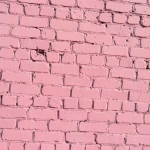 pink rustic brick wall