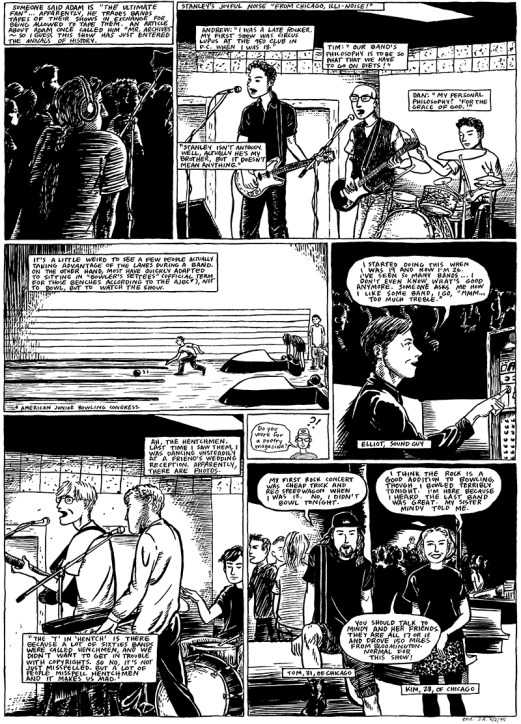 Jessica Abel's story on punk shows at the Fireside Bowl circa 1996 Page 2