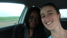 Elisa and I in car number two.