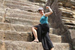Climbing the ruins