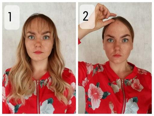 Selvitä hiustesi hiusrajan korkeus + kasvojesi muoto