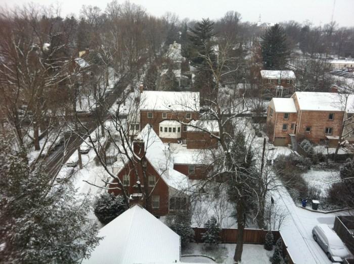 Snow in DC in January