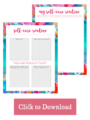 Self-Care Worksheets