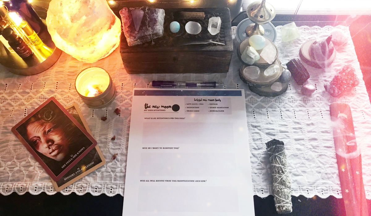 Manifesting Magic with the Moon Guide + Worksheet Bundle