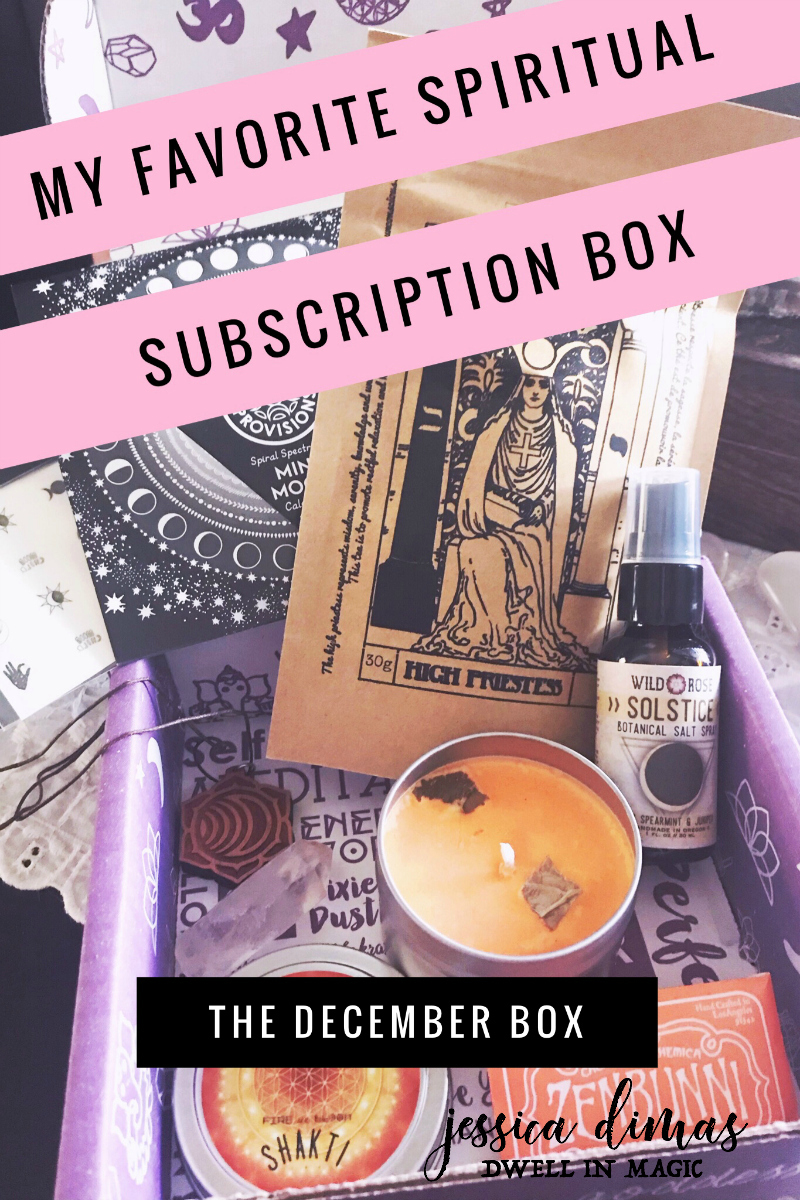 A review of the Goddess Provisions December 2018 box #subscriptionbox #spiritualsubscriptionbox #goddessprovisions #selfcareritual #ritualtools #selfcare #witchythings #witchywoman