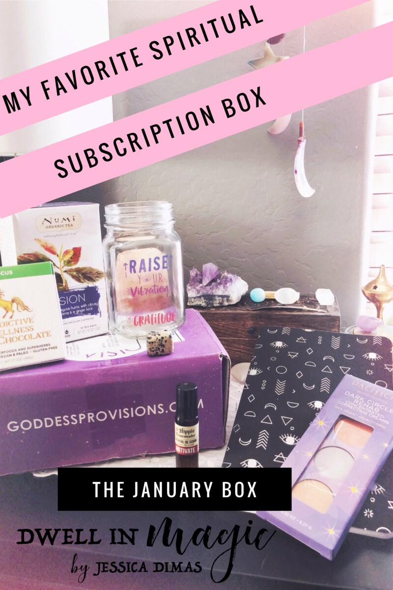 Everything I received and loved in the January 2018 box from Goddess Provisions #subscriptionbox #spiritualsubscriptionbox #witchythings #witchyblog #selfcare #moonmagic #spiritualblog