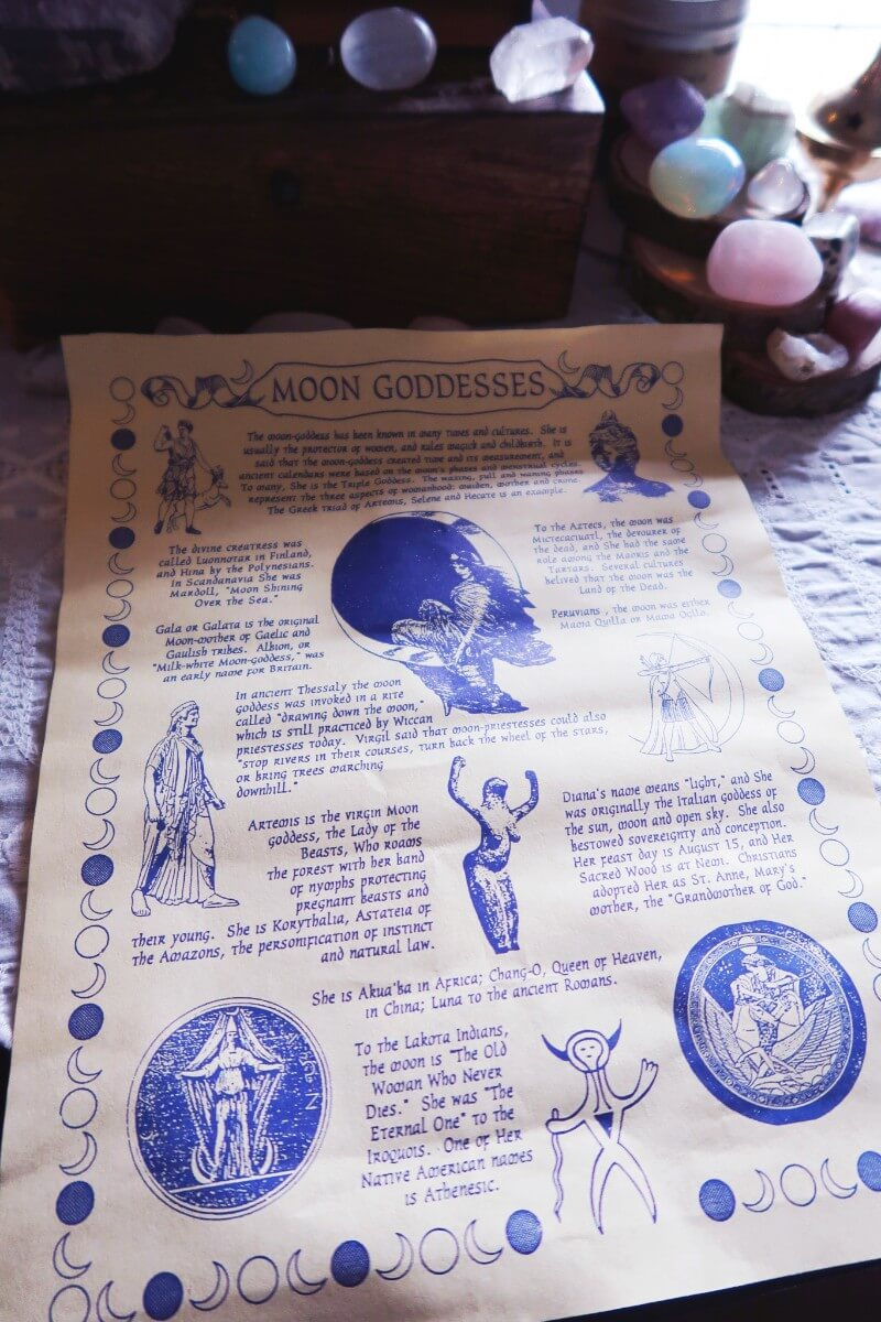 Moon Goddess Grimoire page