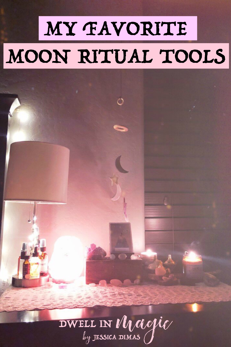 My favorite tools to use during my moon rituals #witchythings #moonritual #sacredselfcare #selfcareritual