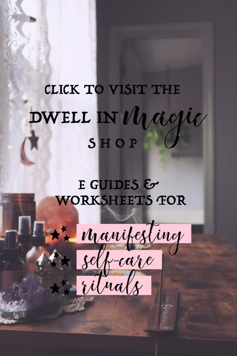 Dwell in Magic Shop - Self-Care worksheets, Law of attraction worksheets, moon ritual worksheets #selfcaretips #manifesting #worksheets #moonritual