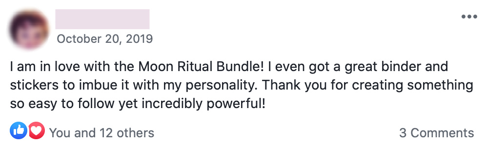 Customer review for Manifesting Magic with the Moon bundle