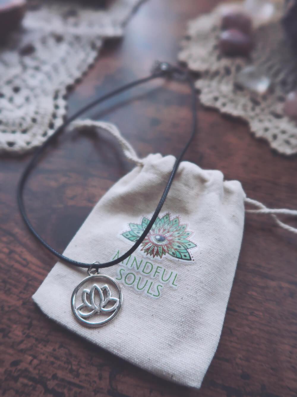 Lotus flower necklace