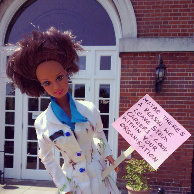 Craftivism Barbie - POWS Conference 2013