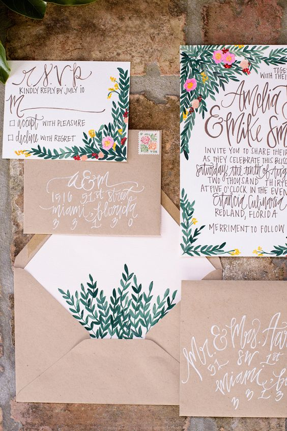 Watercolor Floral Invitation Suite | 11 Tips to Personalize Your Wedding - Jessica Dum Wedding Coordination #weddingtips