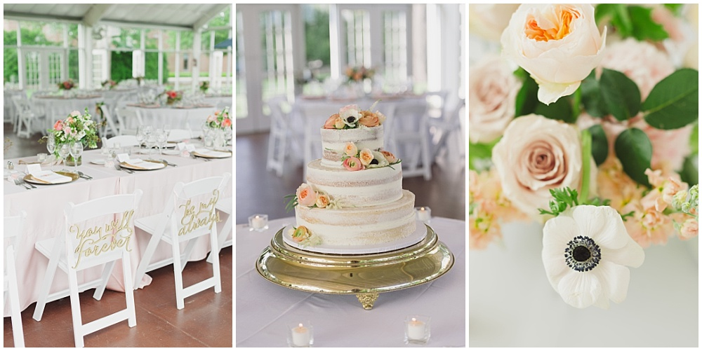 Blush and gold wedding details   Ritz Charles Garden Pavilion Wedding by Stacy Able Photography & Jessica Dum Wedding Coordination