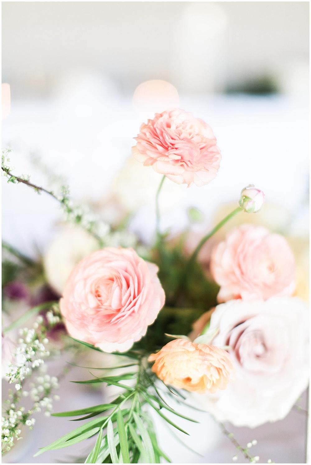 pink centerpieces, Spring floral + gold wedding | Ivan & Louise Images | Jessica Dum Wedding Coordination