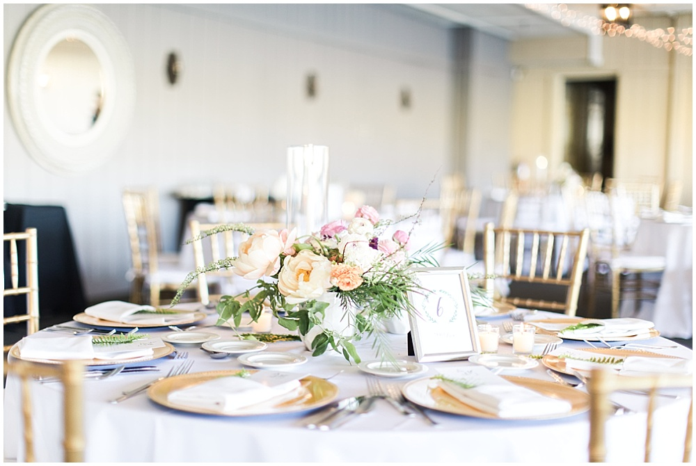 blush, gold and peach wedding tablescape, Spring floral + gold wedding | Ivan & Louise Images | Jessica Dum Wedding Coordination