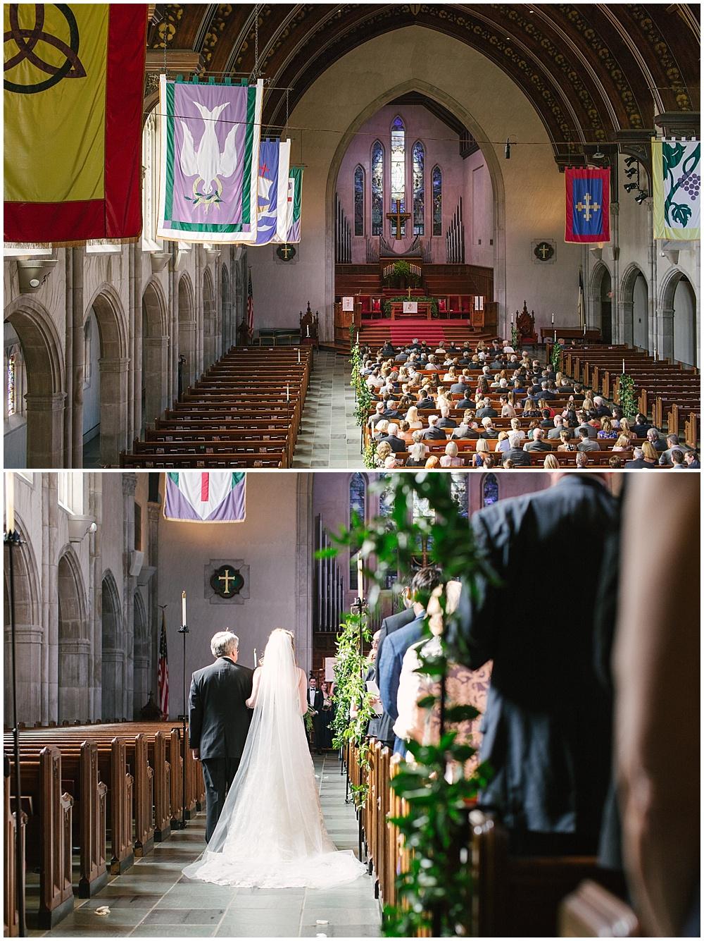 Second Presbyterian Church; Navy + blush wedding; Scottish Rite Cathedral| Traci & Troy Photography and Jessica Dum Wedding Coordination